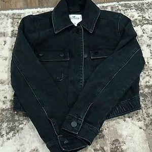 Hollister black cropped Jean jacket